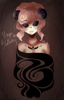 happy superlate birthday miribum c: by madam-top-hat