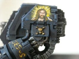 Jesus Dread freehand :P by Tigershark-Painting