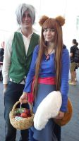 Lawrence and Holo from Spice and Wolf by Roses-and-Feathers