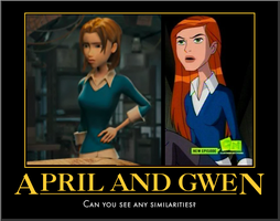 April and Gwen similarities... by Venetia-the-Hedgehog