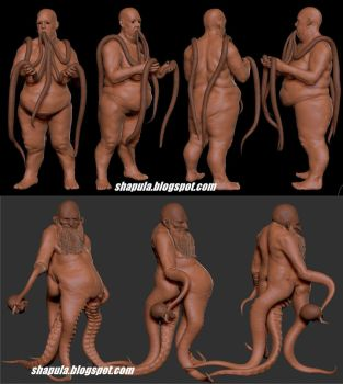 Zbrush clay render of previous sculpts #1 by Shapula