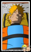 Naruto sleeping by NaziUK