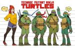 TMNT_height and physical structures model sheet by Santolouco