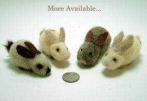 More Felted Bunnies by noe6