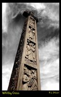 Whitby cross B and W by richardldixon