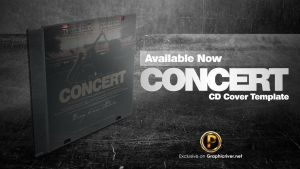 Concert Live CD Cover Template by prassetyo