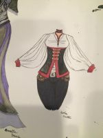 Lola inked outfit design.  by Coraline-Dark