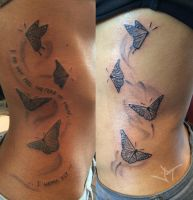 butterflyes on the ribs by Janaina