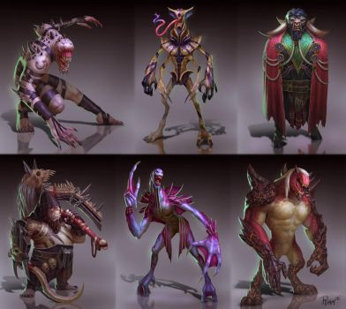 Monster Concepts by PTimm