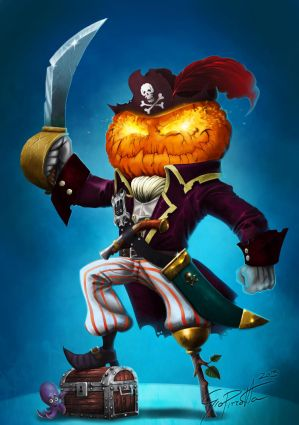 Captain Pumpkin ... and its octopus by giopunkart