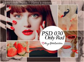 PSD 030 Only Red by OmgKltzEdition