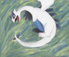 lugia painting by xokibafanxo