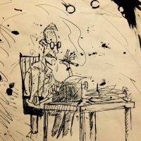 A Vision of Hunter S. Thompson by SquidHatJenkins
