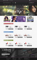 Webdesign - Sephora (unofficial) by ShinDatenshi