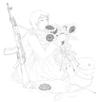 War and Peace Lineart by fellow-traveller