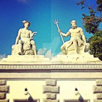 Hermes and Poseidon in Copenhagen by ericvarney