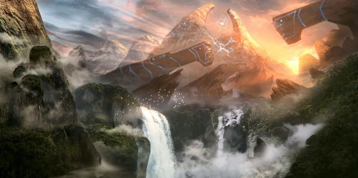 Ancient Phazon Mining (Matte Painting Tutorial) by SoldatNordsken