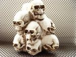 Skull Stack 1 by mailart-org