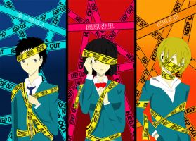 The Trio Keep Out by Pink-Voodoo