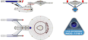 U.S.S. Enterprise NCC-1701 (ver. Gar.) by Gundam1701