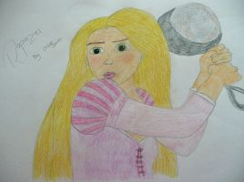 Rapunzel Drawing by chloesmith8