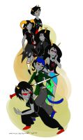 KPstuck troll girls by mimetic-heresy
