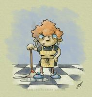 Agnes the Cleaner by ronnietucker