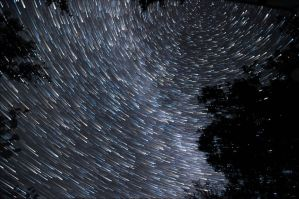 August 10th Star trail by blackismyheart90