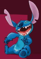 whats so funny, Stitch? by Qaizor