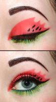 Watermelon eyeshadow by Creativemakeup
