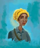 Harriet Tubman portrait painting by eydii