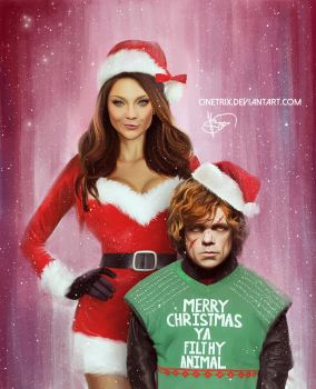 Christmas Tyrion and Margery by cinetrix