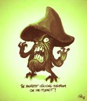 Day01: The Angriest Mushroom by RobertFriis