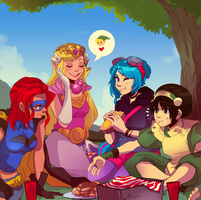 The Picnic by tabby-like-a-cat