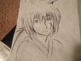 Kenshin drawn only with pen by fullmetaladdict1101