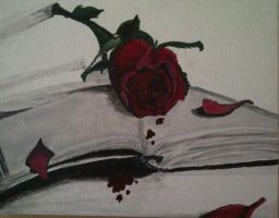 Bleeding Rose Painting by MoeArtMonster