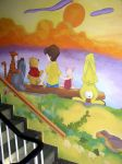 Winnie the Pooh sunset by ginas-cakes