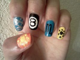 Homestuck Nails: Vriska Serket by Khainsaw