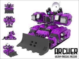 ARCH3R - Heavy Missile Mecha by technoscream