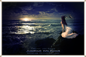 Jumping dolphins by RazielMB