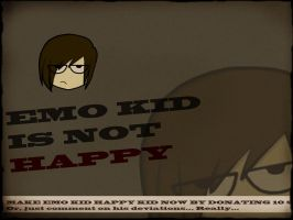 EMO KID IS NOT HAPPY by Khan-the-cake-lover