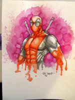 Dead Pool Watercolors by MetaWorks