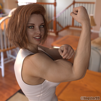 Pretty Redhead Flexes by Lingster