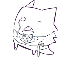 Gentleman Gengar by Dunsparce-is-best