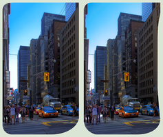 Downtown Toronto 3D ::: CrossView Stereoscopy by zour