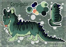 The Corgi-gator have hatched! :3 by SillyTheWolf