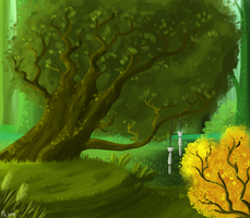Celestial Stick - DEEP FOREST CONCEPT by Ithlini