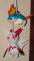 Zangoose and Quilava by mukuburd