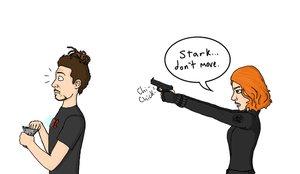Stark... don't move. by K-A-Mill