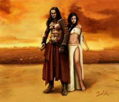 Conan And Tamara by MightyGodOfThunder